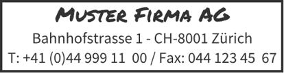Bild von Vorlage Firmenstempel 3 Zeilen