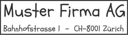 Bild von Vorlage Firmenstempel 2 Zeilen Firmaname und Adresse